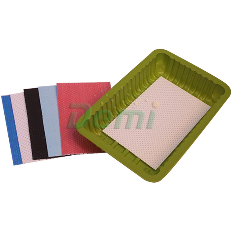 OEM Accepted Food Grade Absorbent Pad Avoid Bacteria Tray Pad
