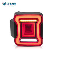 Vland factory for car tail light for Wrangler taillight 2018 2019 full LED rear light with moving signal wholesale price
