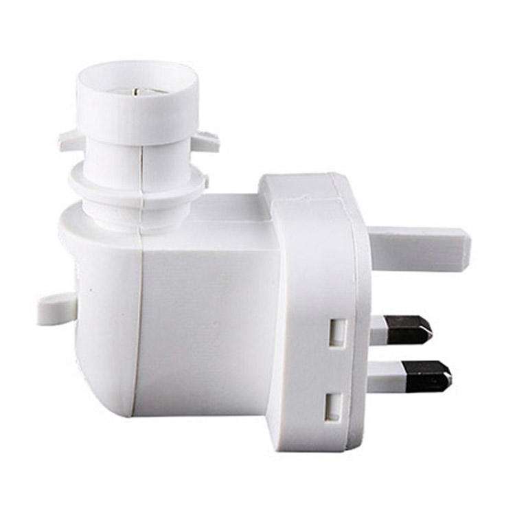 E14 BS UK lamp socket plug in CE ROHS approved salt night light electrical with 5W or 7W or 15W lamp holder and 220V or 240V