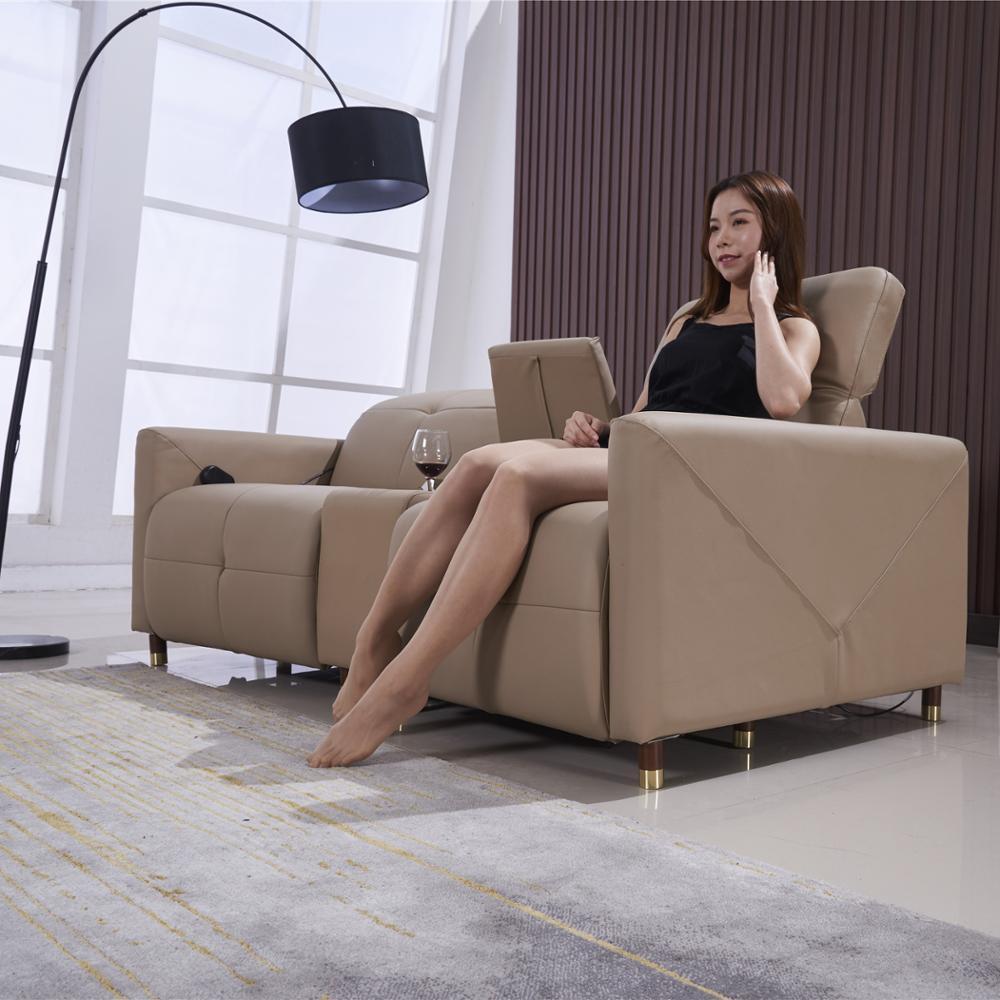 2019 High-quality VIP cinema seating, Modern European leather power recliner sofa