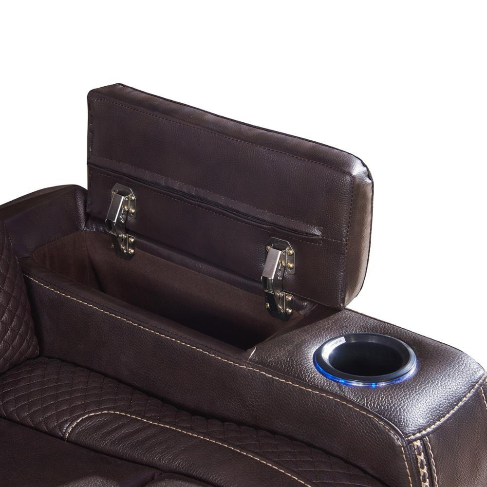 Luxury home theater power recliner chair VIP cinema sofa setfor sale with console