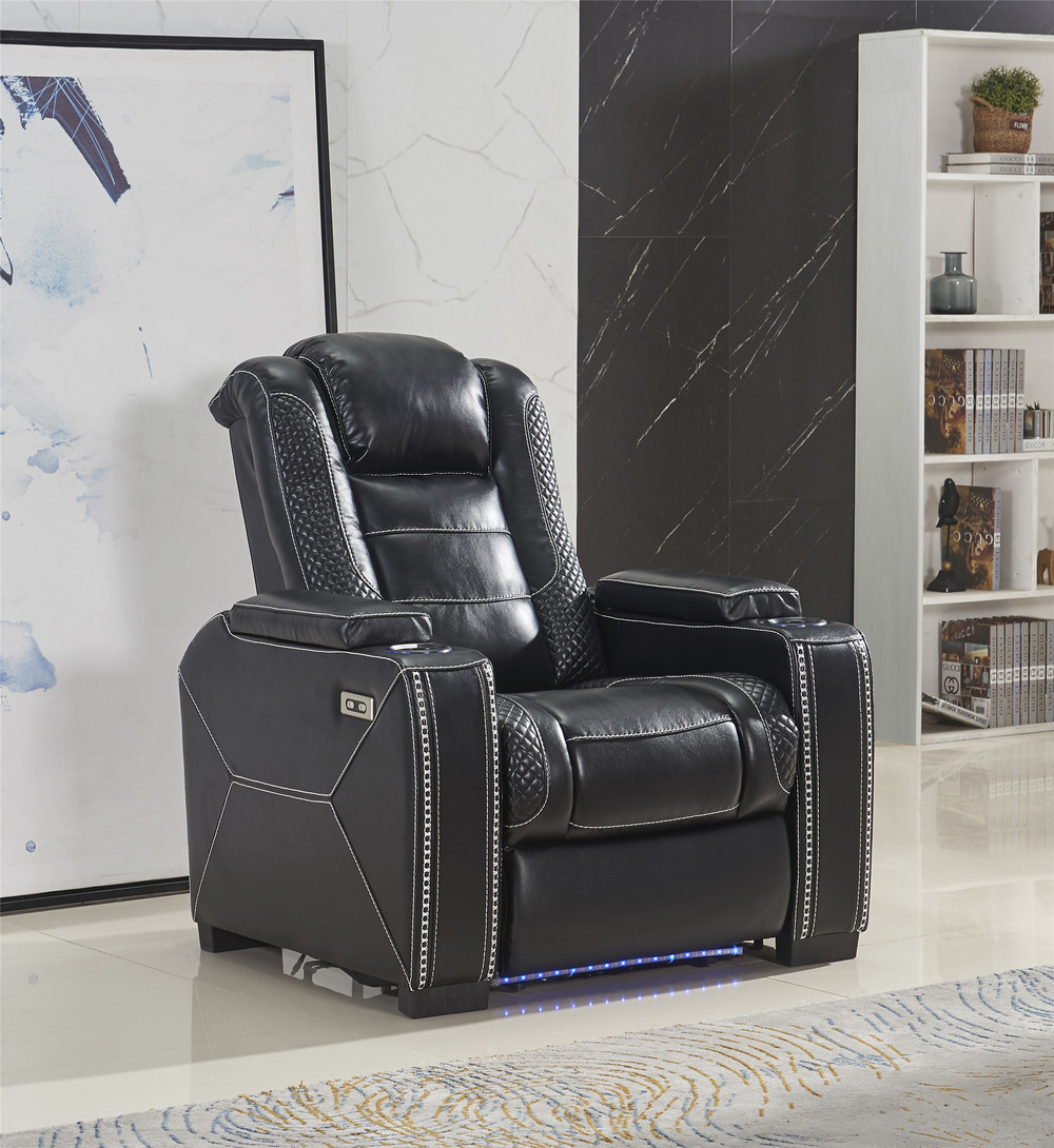 High quality Modern appreance cctv cameraMovie power recliner chair with LED