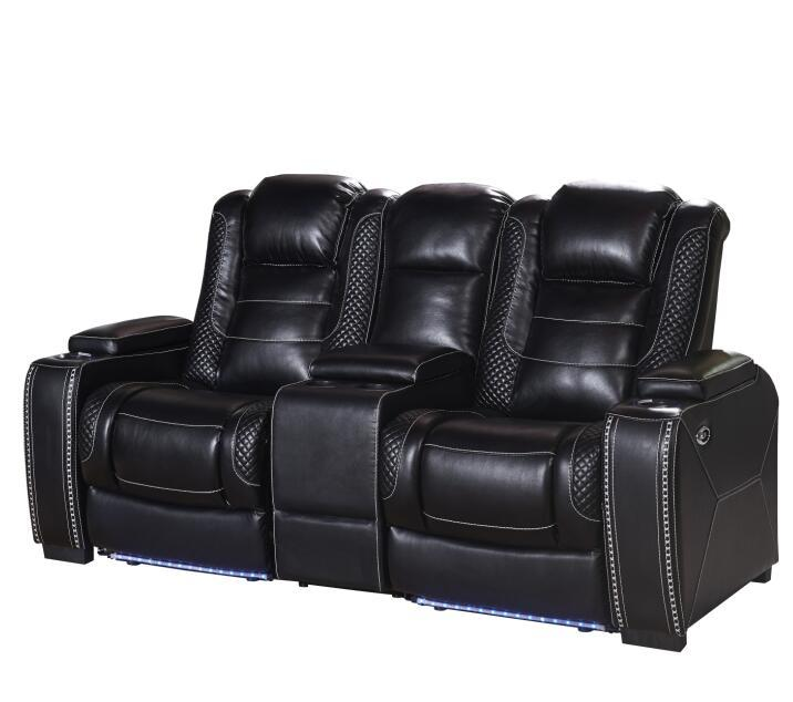 Air leather Home theater sofa couch with power/two seater with storage