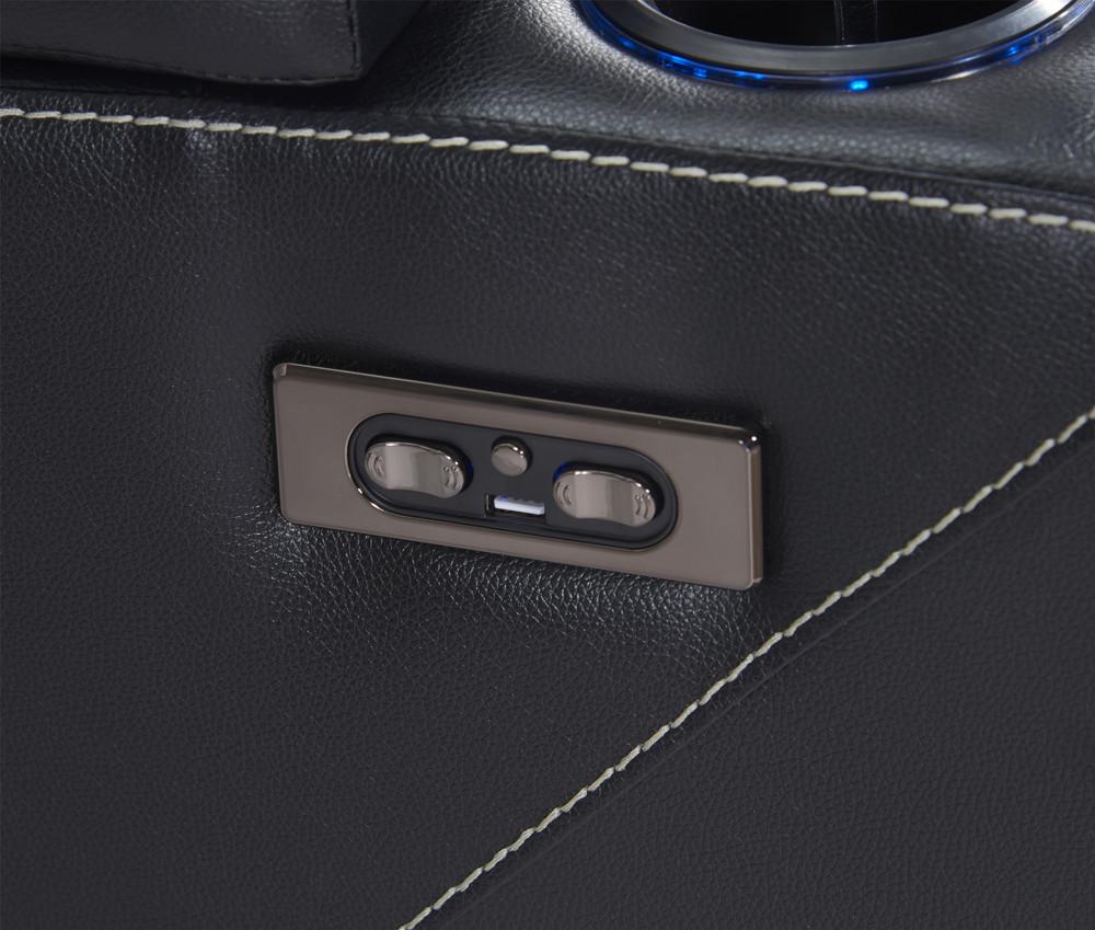 2021 newest Home cinema furniture Premium motorised recliner cinema sofas set USB port & cupholder