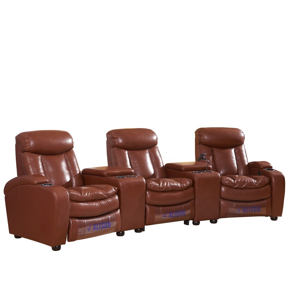 home theater furniture sofa supply leather recliner sofa home cinema from manufactory