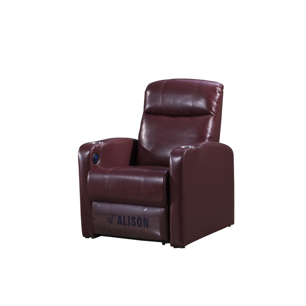 Home theatre recliner cinema furniture top grain leathermanual recliner sofa sets