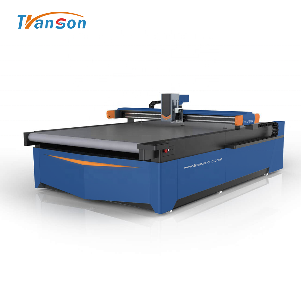Transon 1625 High Speed CNC Round Knife Cutting Machine for Leather Fabric Cloth Sofa Carpets