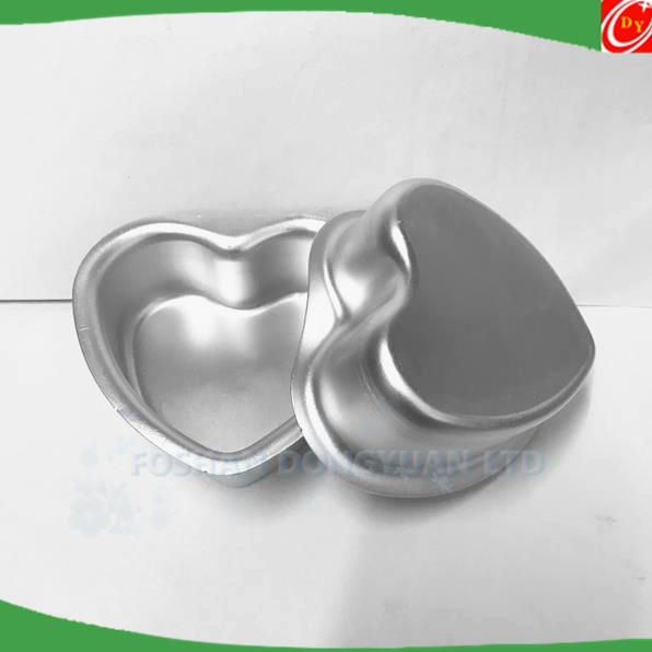 Love Type Small Cake Mold Solid Bottom Love Model Heart Aluminum Alloy Bath Bomb Mold