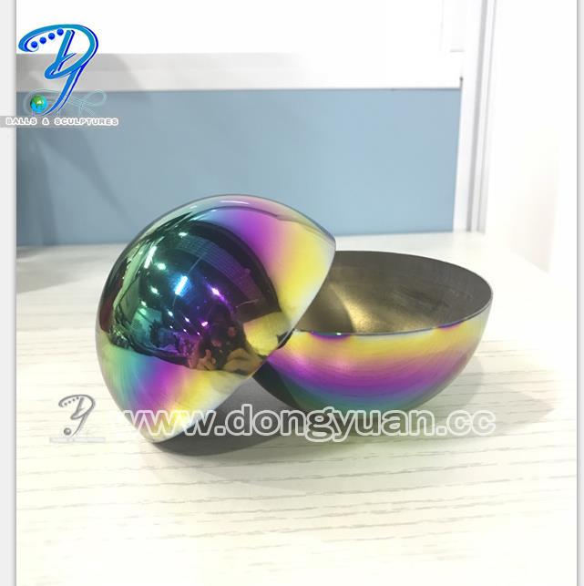 Hollow Stainless Steel Half Sphere 80mm Hemisphere