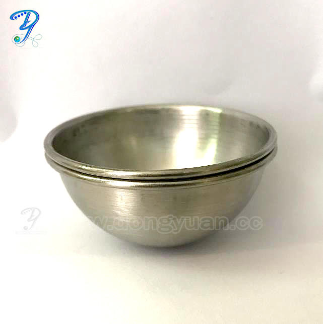 65mmBrushed Surface Stainless Steel Bath Bomb Mold with Rolled Edge