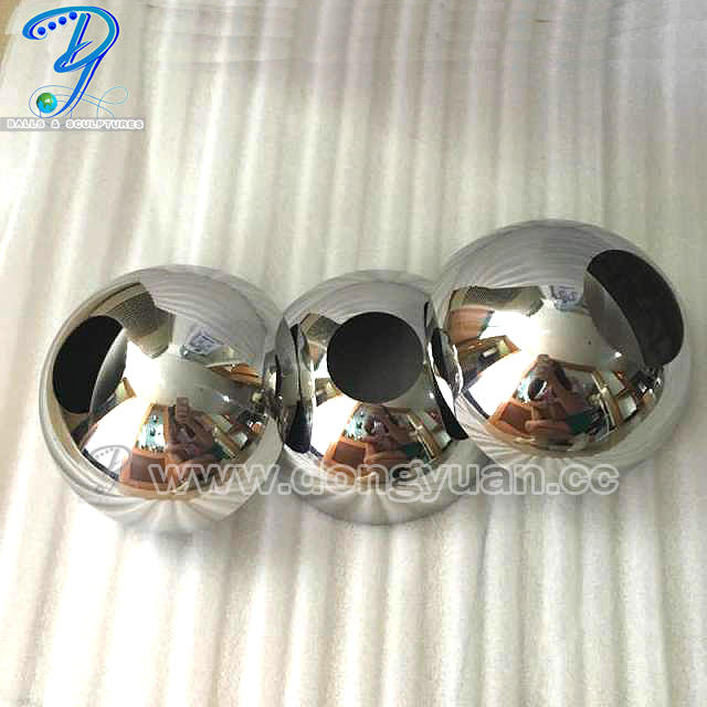 250mm Stainless Steel ball with Hole for Lamp Shape Decoration, Dome Hemisphere