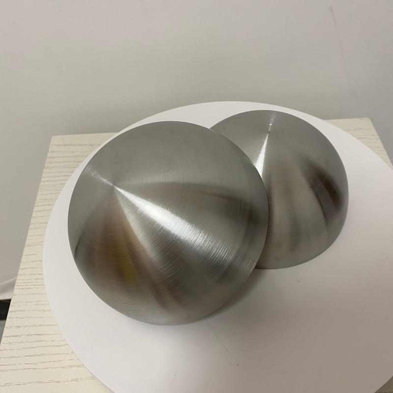 150MM Stainless Steel Brushed Hemisphere Dome for Decoration