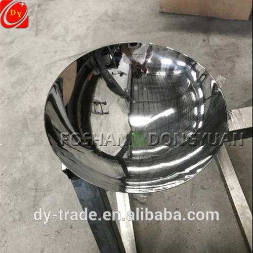 Stainless Steel Concave Mirror Polished Decorative Sculpture