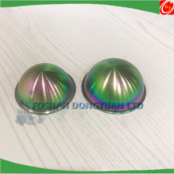 Metal Bath Bomb Mold Stainless Steel Half Balls with Lip Edge