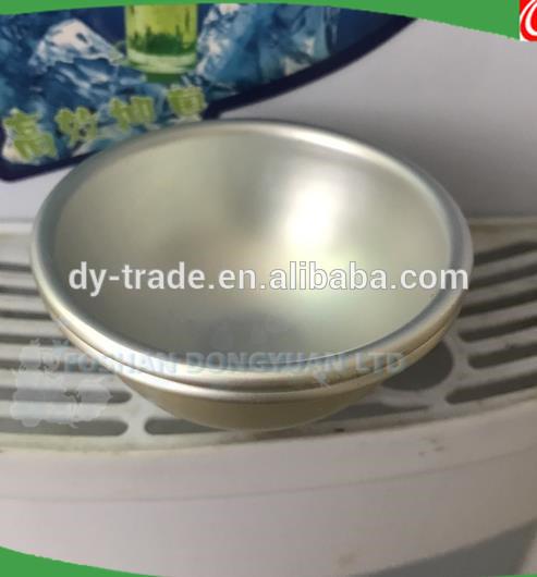 Aluminum AlloyHalf Ball with Edge for Bath Bomb Mould Making