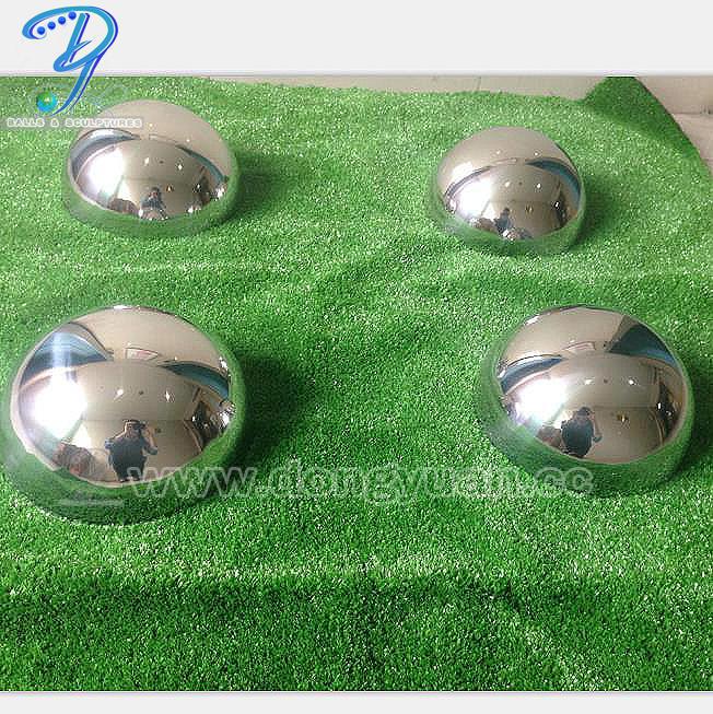Gazing Stainless Steel Half Sphere Mirror , 304 Hollow Steel Half Ball