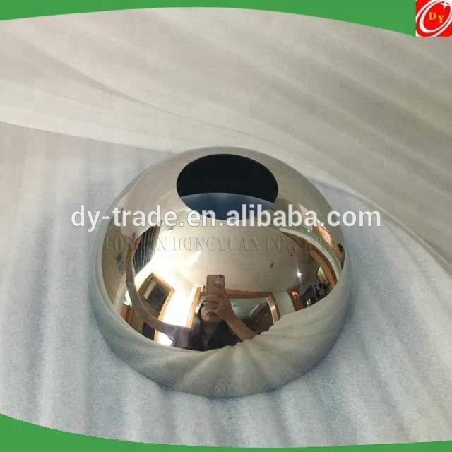 Large Mirror Polished Metal Half Ball of Stainless Steel for Sale