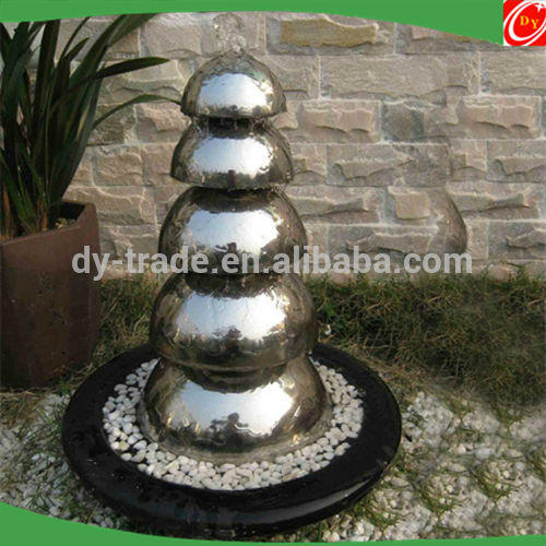 Outdoor Shiny Stainless Steel Water Hemisphere Fountain/Metal Hemisphere