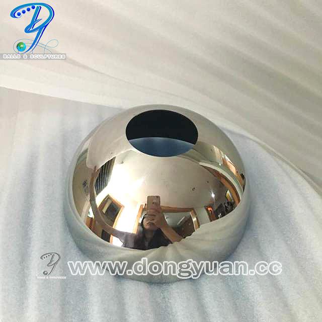 Mirror Polished Stainless Steel Hollow Hmisphere,Decorative Metal Half Sphere