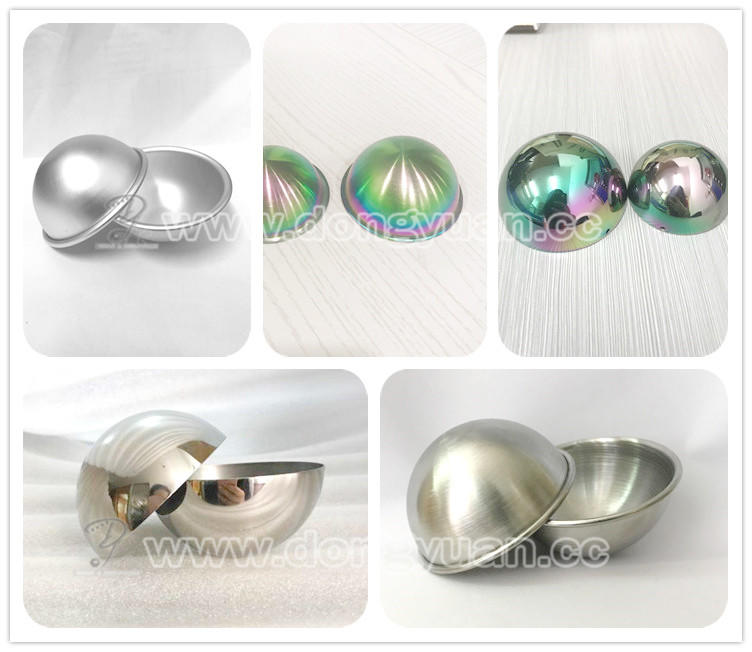 63mm,76mm Stainless Steel Bath Bomb Molds with Rainbow Color for DIY Bath Bomb
