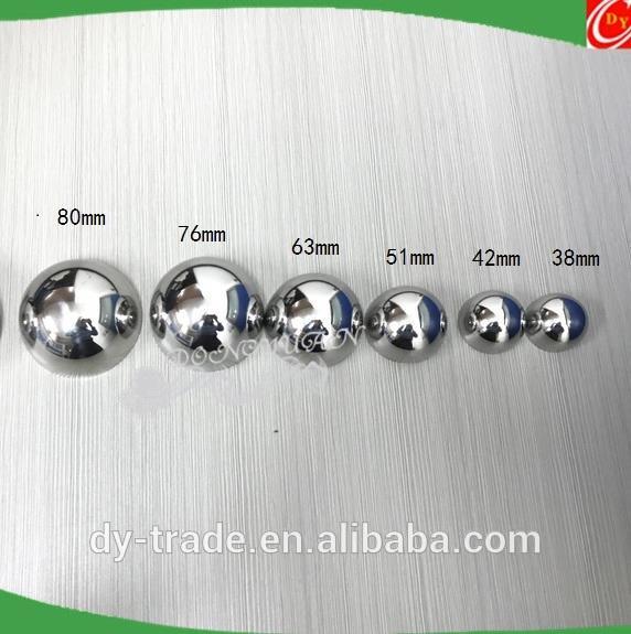 42mm 55mm 63mm Metal Bath Bomb Mold Hollow Factory Steel Spheres DIY Metal Bath Bomb Mold