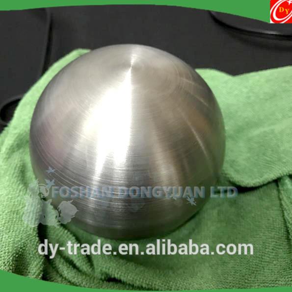 200mm inox steel brushed ball, matte hollow ball
