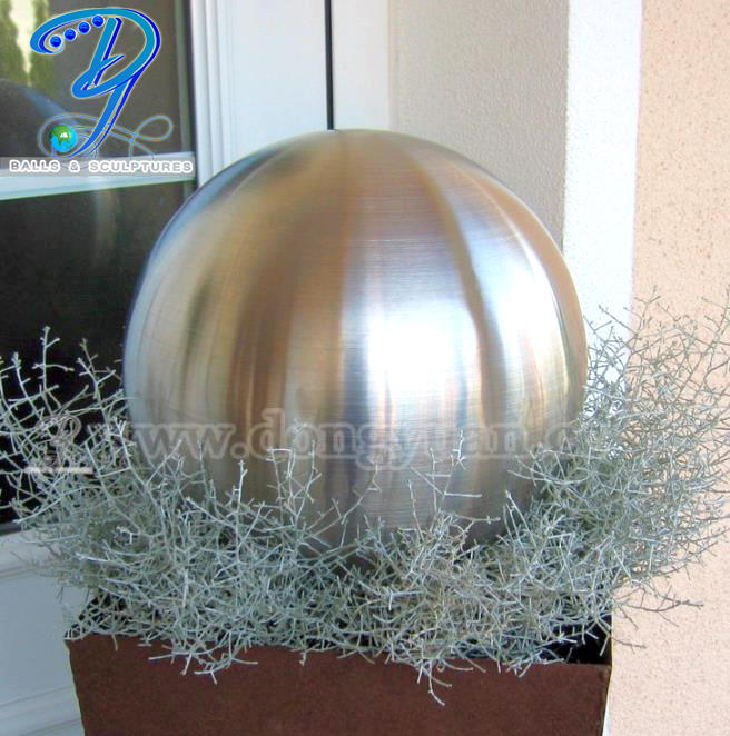 700mm 800mm 900mm Large Metal Sphere / Brushed Stainless Steel Ball