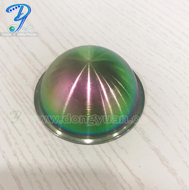 Rainbow Color Stainless Steel Bath Bomb Molds,Hollow Steel Half Ball for Soap Molds