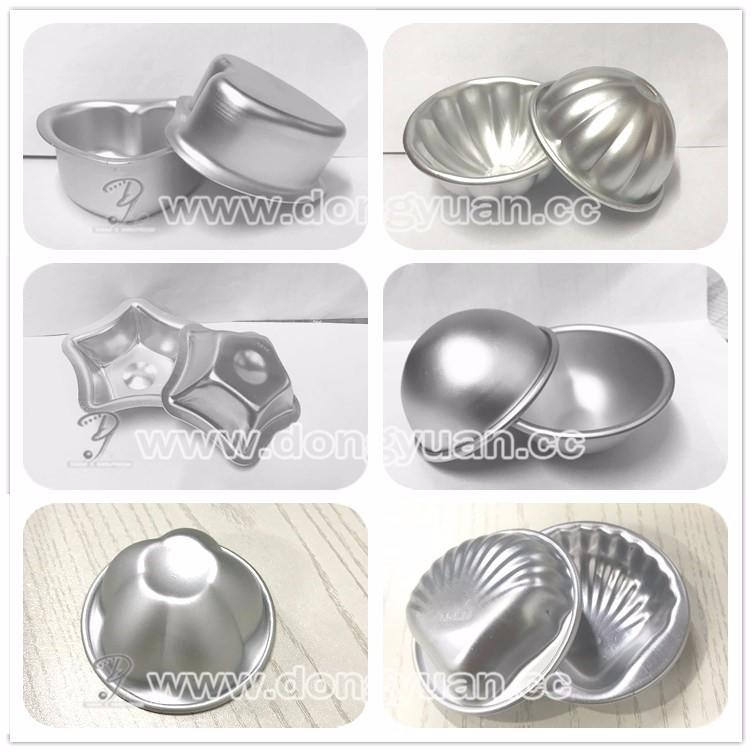 53mm Aluminum Round Shape bath bomb molds