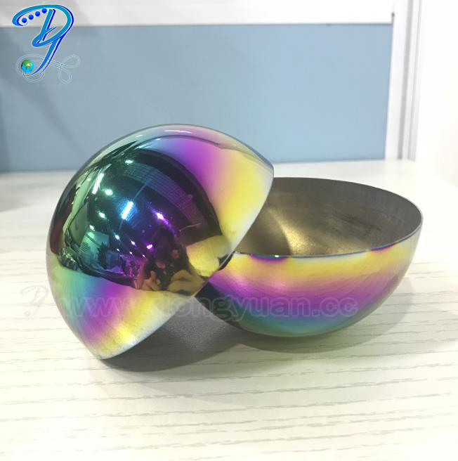 Rainbow Color Metal Grade Steel Half Sphere for Bath Bomb Molds