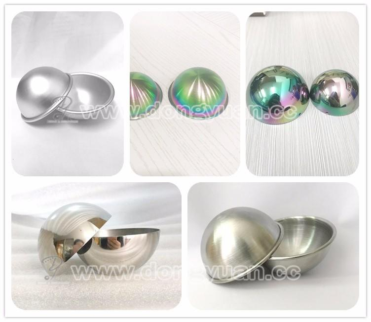 75mm Brushed Stainless Steel Press Soap Molds Cheap Bath Bomb Mold/Spa Bath Bombs Gift Set