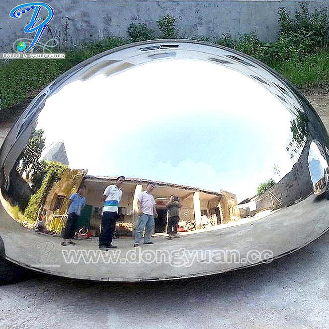 Gazing Metal Hemisphere Stock, Stainless Steel Hemisphere for Wall Decoration Garden Ornament