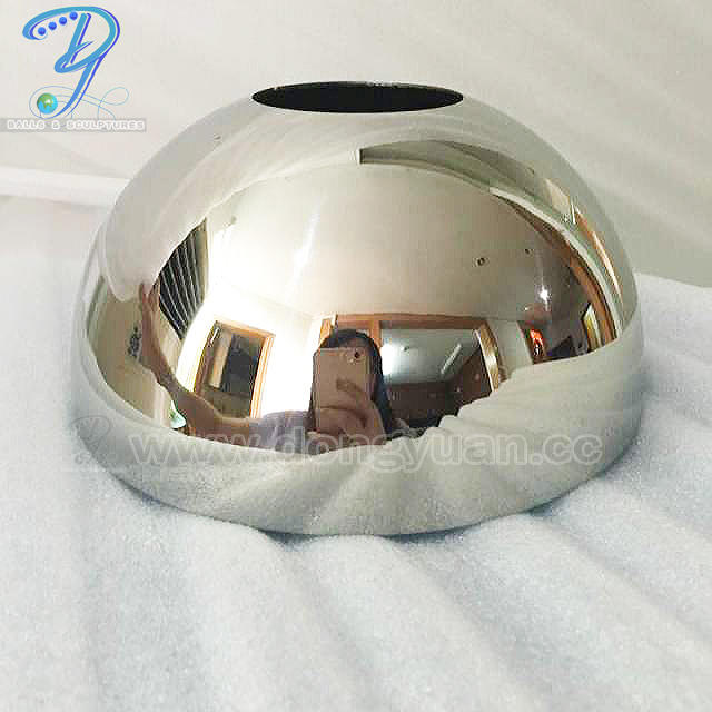 Hemispherical Metal Sphere, Stainless Steel Half Ball with hole for Lamp Lights Decoration