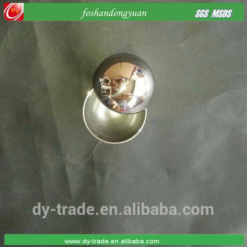 Glossy mirror polished stainless steel hemisphere, hollow steel half sphere