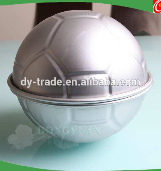 Aluminum Alloy Football Sphere Bath Bomb Molds Baby Birthday Cake Decorating Tools