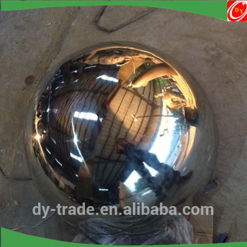 250mm 300mm Shiny Spinning Lathe Half Stainless Steel Ball/Steel Hemisphere