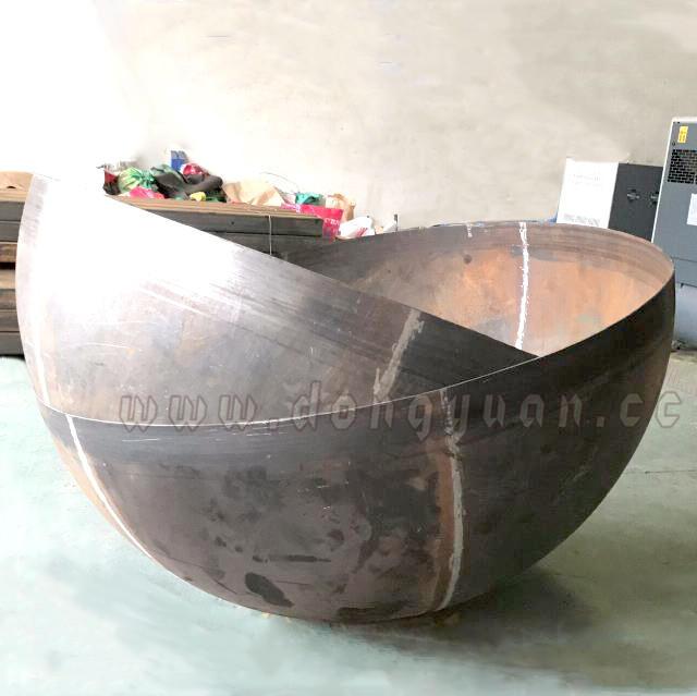 Large Carbon Steel Hollow Balls Sculptures