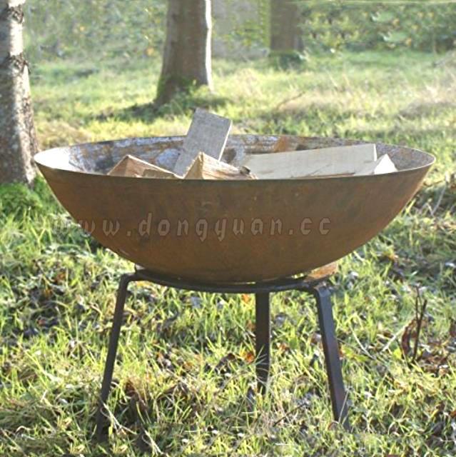Decorative Outdoor Iron Mild Steel Half Ball for Fire Pit, Feuer Stahlkugel