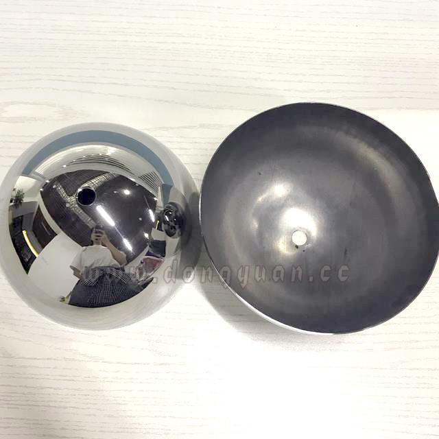 300mm Stainless Steel Hemispheres withHole for Lamp Decoration
