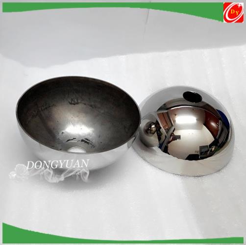 304 stainless steel hemisphere ,mirror finish steel half hollow ball chian supplier