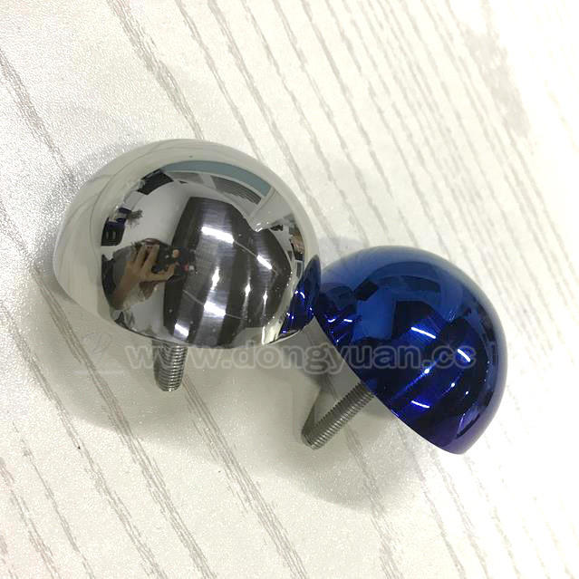 High Polished Stainless Steel Hemisphere with Thread Rod for Wall Decoration Furniture Parts