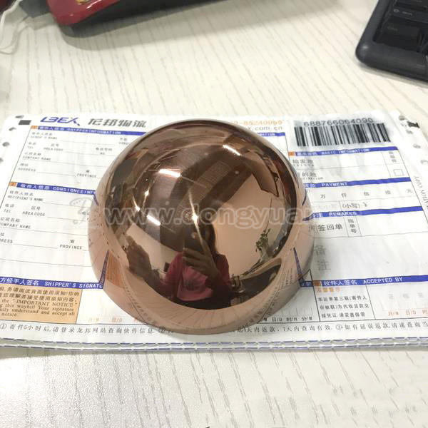 102mm Stainless Steel Half Sphere with Copper Color for Bath Bomb Soap Mould