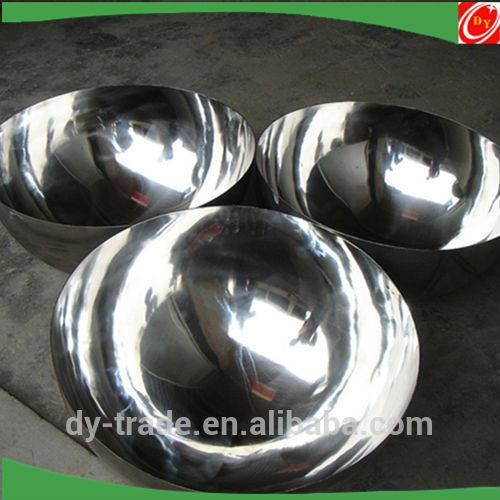 ODM Shiny Mirror Polished Half Metal Sphere/Stainless Steel 8K Finish Hemisphere/China Supplier
