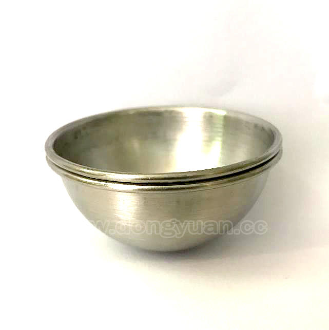 75mm Brushed Stainless steel Half Bath Molds with Rolled Lip