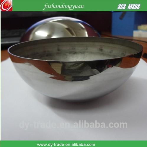 Stainless steel hollow sphere wrought iron half-empty half-sphere
