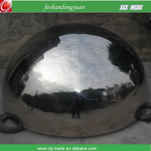 half mirror stainless steel mirror sphere brushed inside