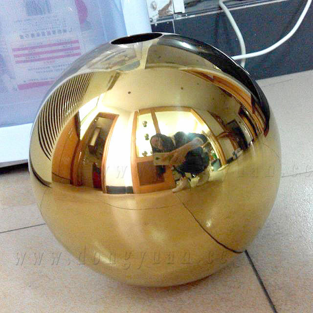 400mm Polish Metal Half Sphere with Hole for Lamp Shape Decoration
