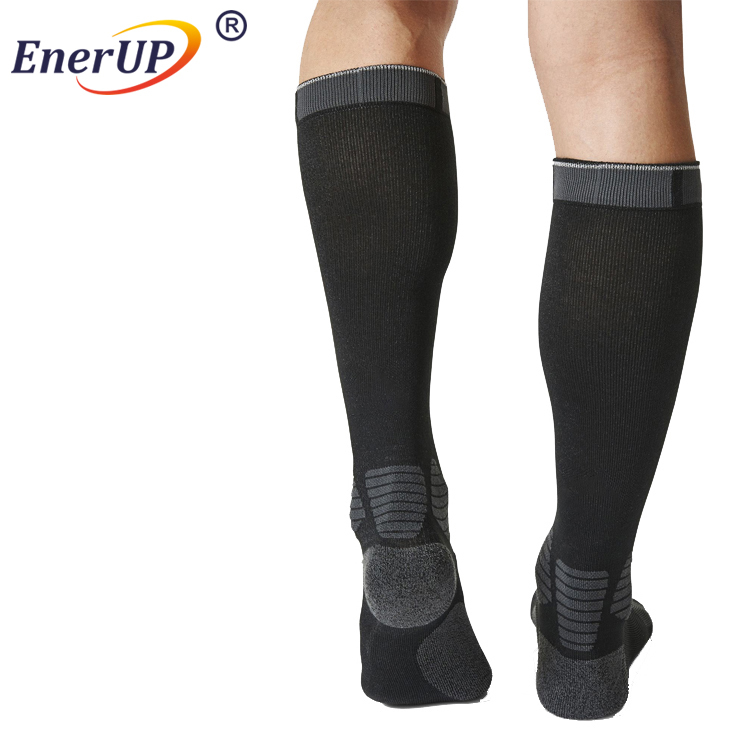 High quality medical running custom nylon sport compression knee socks