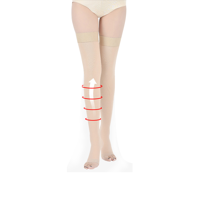 mid thigh socking varicose veins 20 mmhg-30 mmhg compression socks medical
