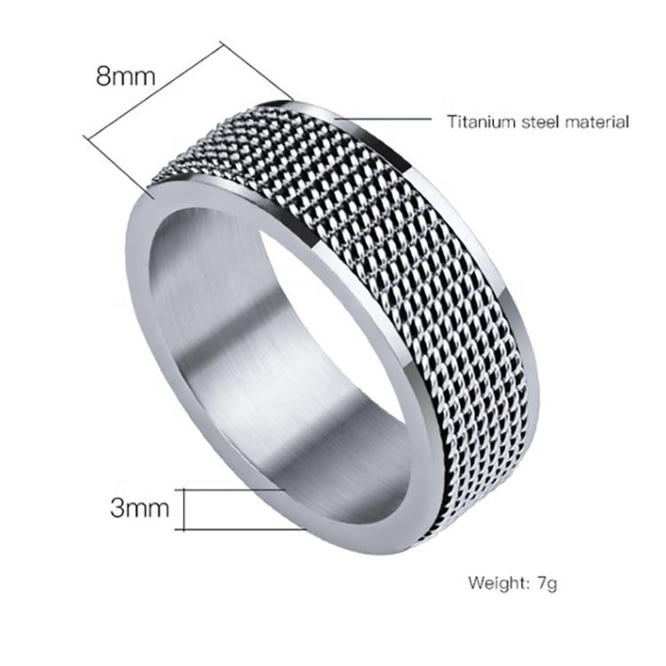 Nifty style male popular tat stainless steel rings